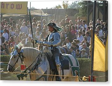 Maryland Renaissance Festival - Jousting And Sword Fighting - 1212162 Canvas Print by DC Photographer