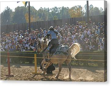 Maryland Renaissance Festival - Jousting And Sword Fighting - 1212167 Canvas Print by DC Photographer
