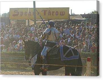 Maryland Renaissance Festival - Jousting And Sword Fighting - 1212168 Canvas Print by DC Photographer