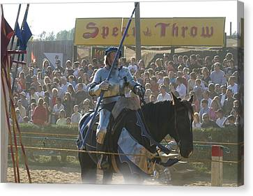 Maryland Renaissance Festival - Jousting And Sword Fighting - 1212169 Canvas Print by DC Photographer