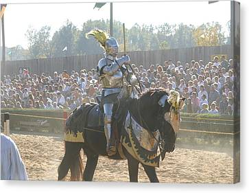 Maryland Renaissance Festival - Jousting And Sword Fighting - 1212171 Canvas Print by DC Photographer