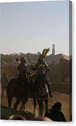Maryland Renaissance Festival - Jousting And Sword Fighting - 1212183 Canvas Print by DC Photographer