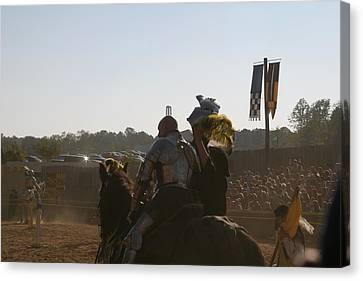 Maryland Renaissance Festival - Jousting And Sword Fighting - 1212185 Canvas Print by DC Photographer