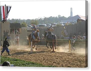 Maryland Renaissance Festival - Jousting And Sword Fighting - 1212190 Canvas Print by DC Photographer