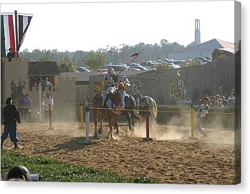 Maryland Renaissance Festival - Jousting And Sword Fighting - 1212191 Canvas Print by DC Photographer