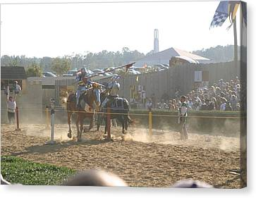 Maryland Renaissance Festival - Jousting And Sword Fighting - 1212195 Canvas Print by DC Photographer