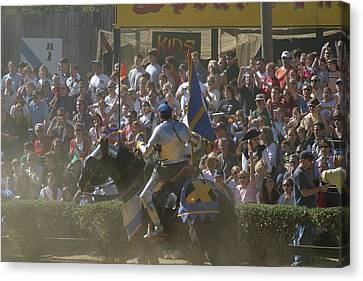 Maryland Renaissance Festival - Jousting And Sword Fighting - 1212201 Canvas Print by DC Photographer
