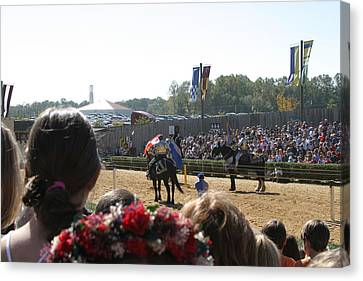 Maryland Renaissance Festival - Jousting And Sword Fighting - 1212209 Canvas Print by DC Photographer