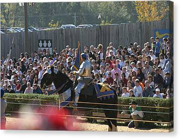 Maryland Renaissance Festival - Jousting And Sword Fighting - 1212210 Canvas Print by DC Photographer