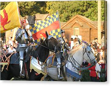 Maryland Renaissance Festival - Jousting And Sword Fighting - 121224 Canvas Print by DC Photographer