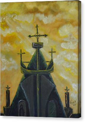 Mary's Cathedral In The Sky Canvas Print by Tricia Concienne