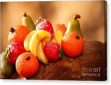 Marzipan Fruits Canvas Print by Amanda Elwell