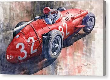 Maserati 250f J M Fangio Monaco Gp 1957 Canvas Print by Yuriy  Shevchuk