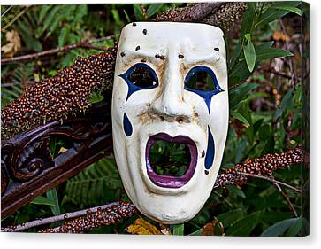 Mask And Ladybugs Canvas Print by Garry Gay