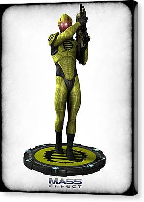 Mass Effect - Eclipse Soldier Canvas Print by Frederico Borges
