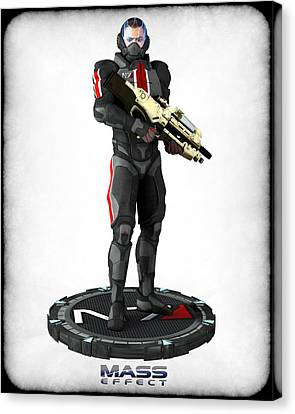 Mass Effect - N7 Soldier Canvas Print by Frederico Borges