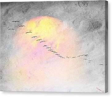 Mass Migration Canvas Print by SM Shahrokni