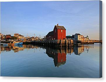 Massachusetts Rockport Harbor Canvas Print by Juergen Roth
