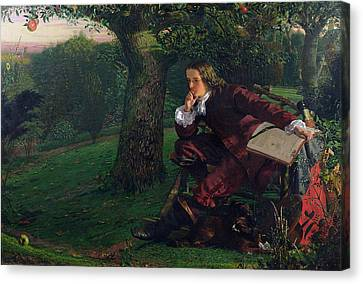 Isaac Newton Canvas Print by Robert Hannah