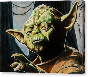 Master Yoda Canvas Print by Brian Broadway