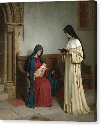 Maternity Canvas Print by Edmund Blair Leighton