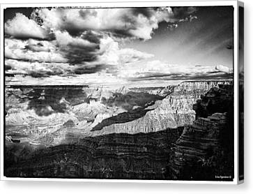 Clouds View From Mather Point  Canvas Print by Lisa  Spencer
