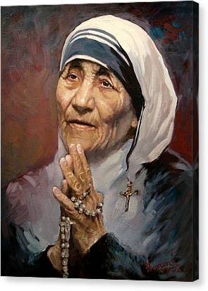 Mather Teresa Canvas Print by Ylli Haruni