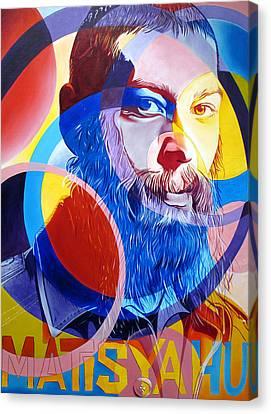 Matisyahu In Circles Canvas Print by Joshua Morton