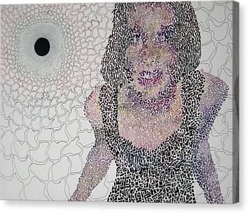 Matrix Canvas Print by Amy Mackenzie