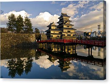 Matsumoto Reflection Canvas Print by Aaron S Bedell