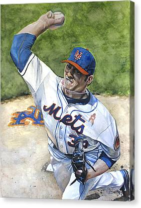 Matt Harvey Canvas Print by Michael  Pattison