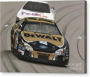 Matt Kenseth Dewalt Ford Canvas Print by Paul Kuras