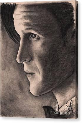 Matt Smith Canvas Print by Rosalinda Markle