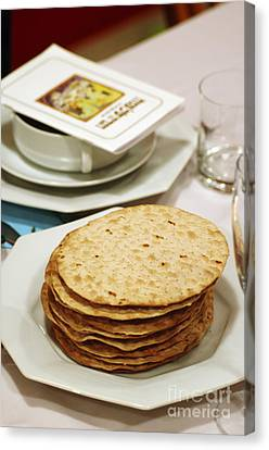 Matza And Haggada For Pesach Canvas Print by Ilan Rosen