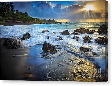 Maui Dawn Canvas Print by Inge Johnsson