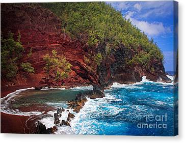 Maui Red Sand Beach Canvas Print by Inge Johnsson