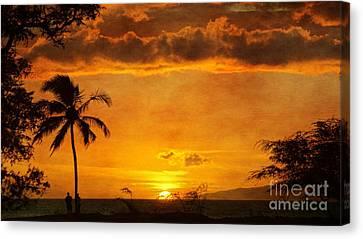 Maui Sunset Dream Canvas Print by Peggy Hughes