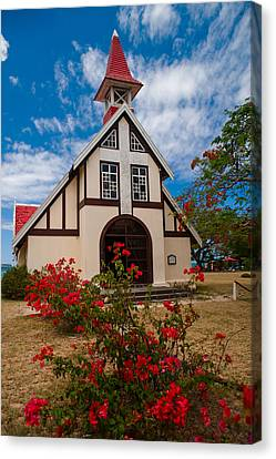 Mauritian Catholic Church.  Notre Dame Auxiliatrice Canvas Print by Jenny Rainbow
