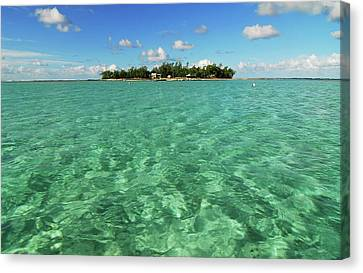 Mauritius, Blue Bay, Turquoise Rippled Canvas Print by Anthony Asael