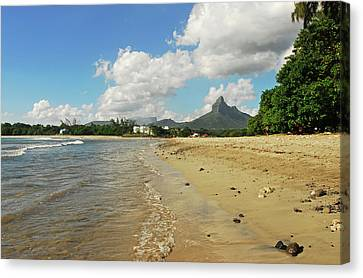 Mauritius, Tamarin, View Of Calm Beach Canvas Print by Anthony Asael