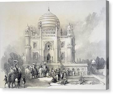 Mausoleum Of Jufhir Junge, Delhi Canvas Print by English School