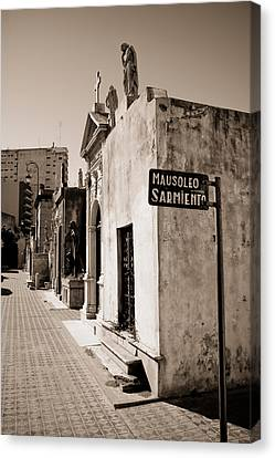 Mausoleums Of Domingo Sarmiento Canvas Print by Panoramic Images