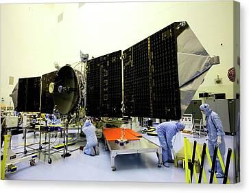 Maven Spacecraft Solar Array Testing Canvas Print by Nasa