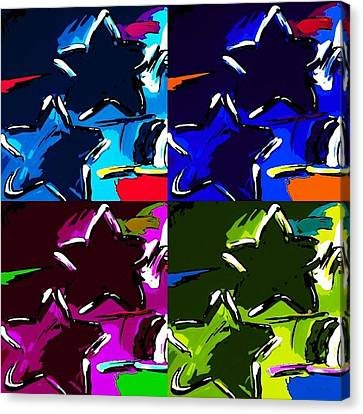 Max Two Stars In Pf Quad Colors Canvas Print by Rob Hans