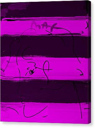 Max Woman In Purple Canvas Print by Rob Hans