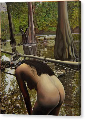 May Morning Arkansas River  2 Canvas Print by Thu Nguyen