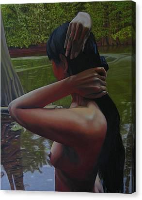 May Morning Arkansas River 6 Canvas Print by Thu Nguyen