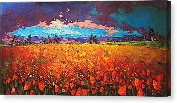 May Rain  Canvas Print by Anastasija Kraineva
