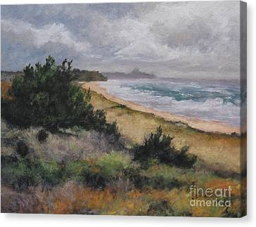 May Storm - Montauk Canvas Print by Gregory Arnett