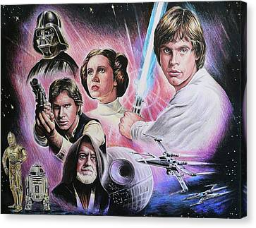 May The Force Be With You Canvas Print by Andrew Read